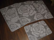 ROMANY WASHABLES NEW FOR 2018 SUPER THICK BOWS DESIGNS FULL SET OF 4 SILVER/GREY